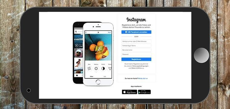 Large instagram business marketing