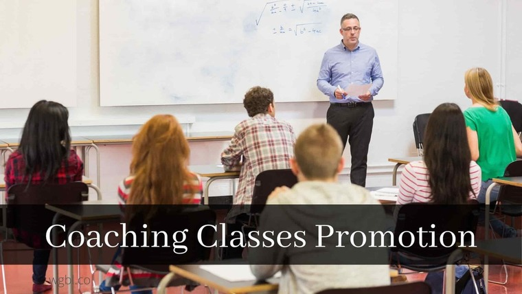 Large coaching classes promotion